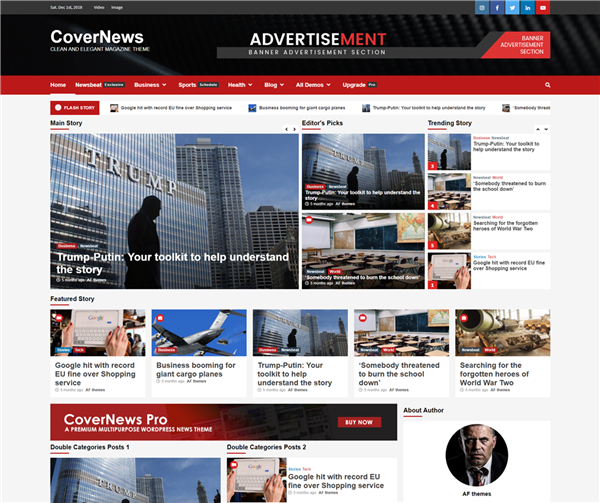 CoverNews Wordpress theme screenshot