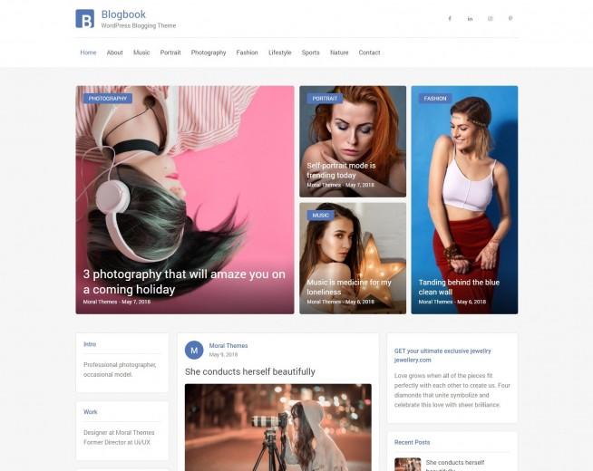 Blogbook – Free WordPress blog theme