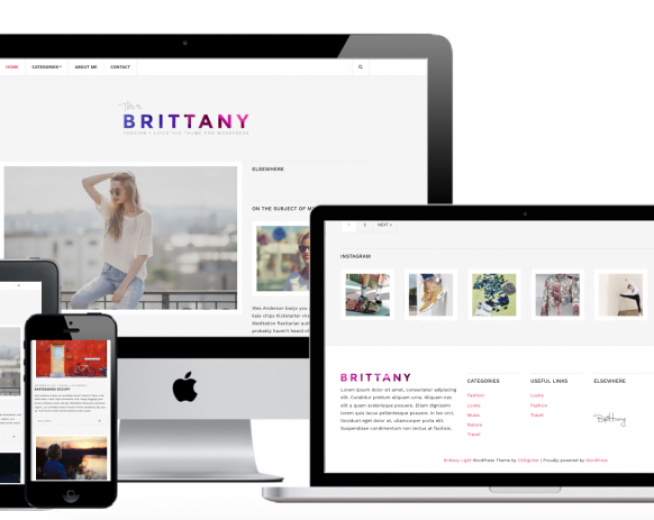 Brittany Light – Free fashion and personal lifestyle blog WordPress theme