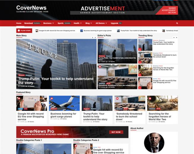 CoverNews – a Free elegant News WordPress theme