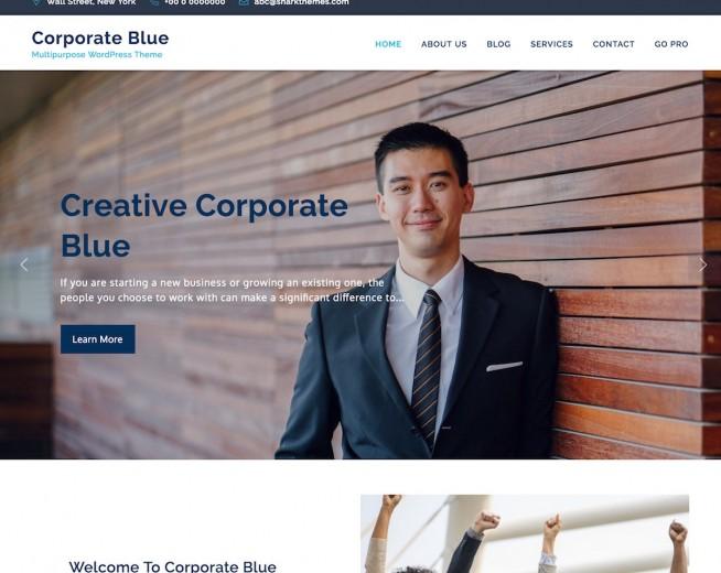 Corporate Blue – Free multi-purpose business WordPress theme