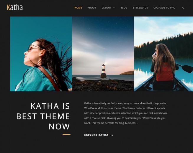 Katha – Free WordPress Multipurpose theme