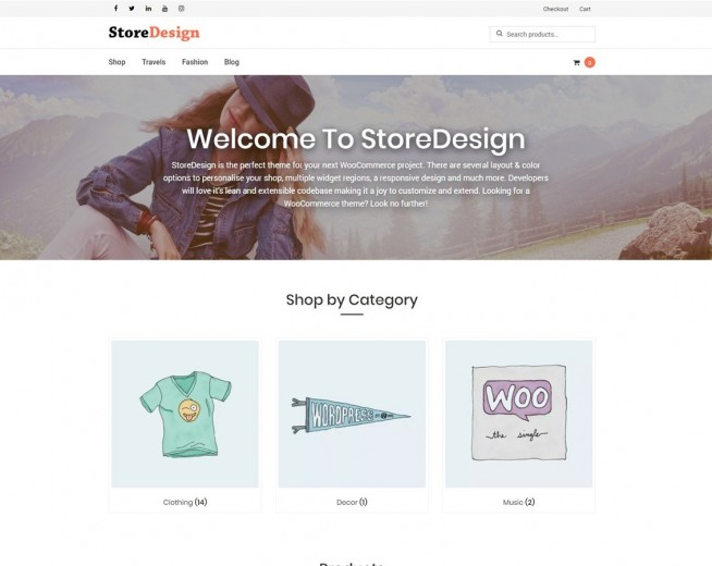 StoreDesign – Free Woocommerce WordPress theme