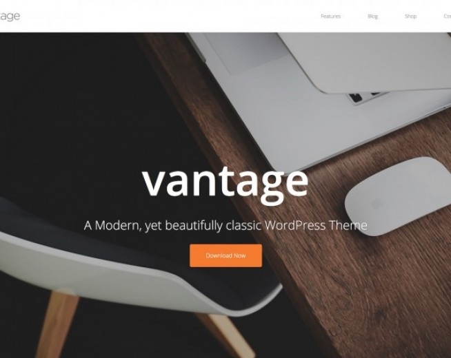 Vantage – Free modern, yet beautifully classic WordPress Theme