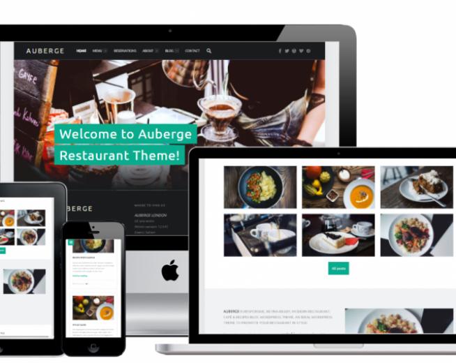 Auberge – Free food recipes, restaurant WordPress theme