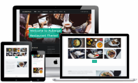 Auberge – Free food recipes, restaurant WordPress theme