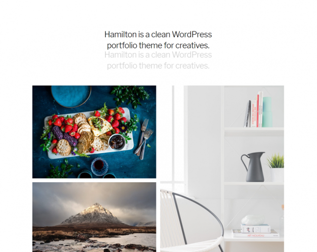 Hamilton -Free clean WordPress portfolio theme for creatives