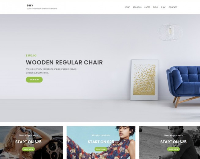 99FY – Free Woocommerce WordPress theme