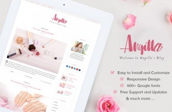 Angilla – Free premium WordPress blogging theme