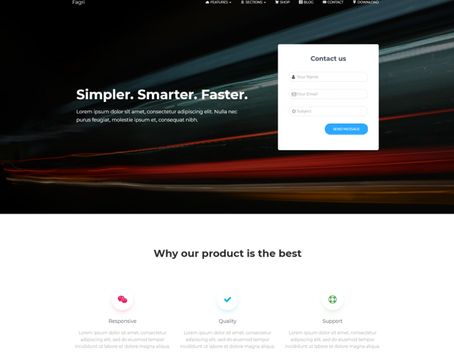 Fagri – Free One Page WordPress Theme