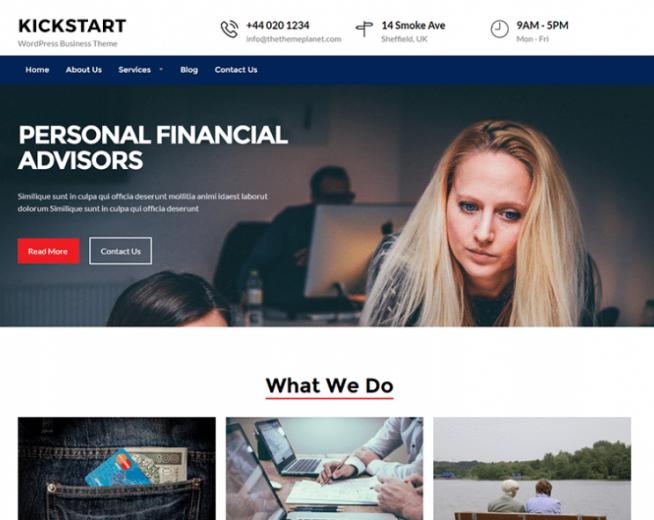 Kickstart Business – Free business WordPress theme