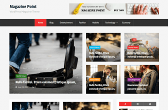 Magazine Point – Free Simple and clean Magazine WordPress theme