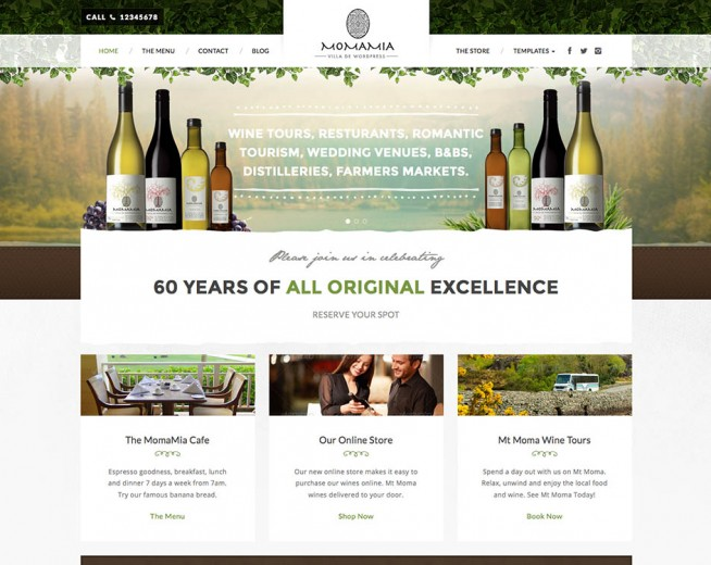 Top premium Wine shop and Wine house WordPress themes