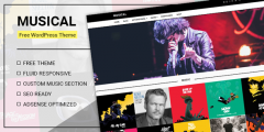 Musical – Free premium music WordPress Theme from Mythemeshop