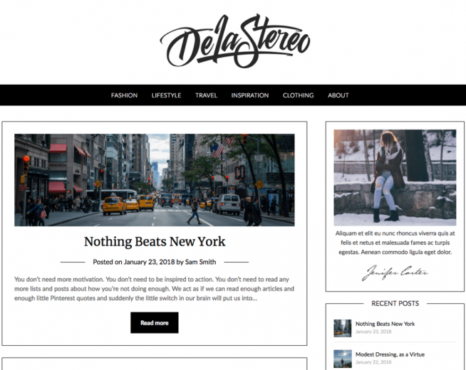 Personalblogily – free minimalist WordPress blogging theme