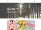 Pine – Free minimalist WordPress portfolio theme