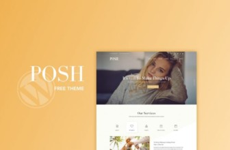 POSH free and responsive wedding services wordpress theme