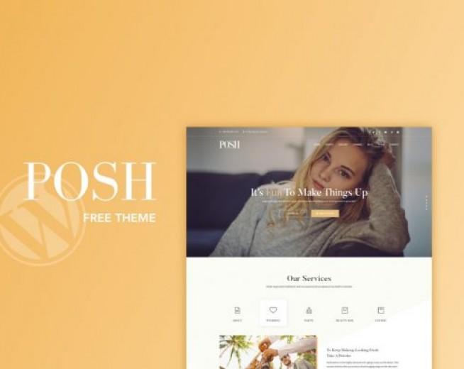 POSH free and responsive wedding services wordpress theme