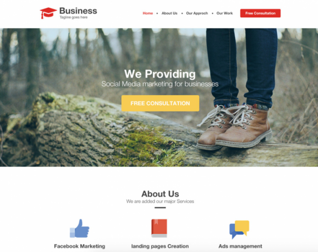 Top 3 Free Agency / Business Website Template PSD in July 2017