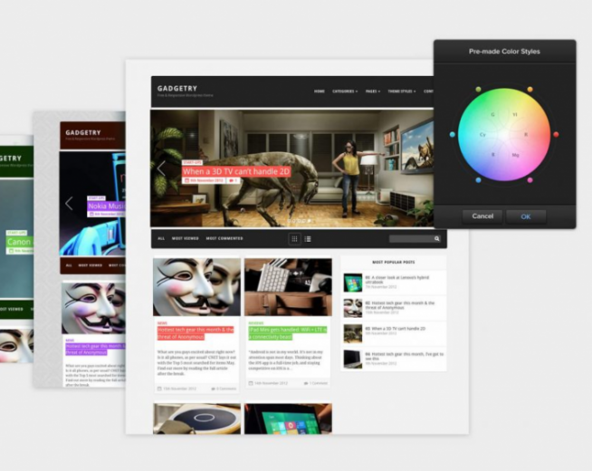 GADGETRY – Free premium easy to customize magazine Wp theme