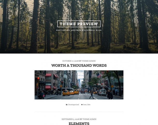 Tasman – Free minimalist WordPress theme