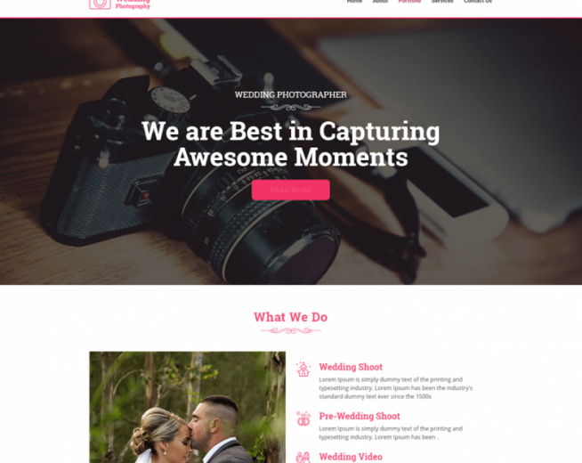 Weddingphotography – free Wedding Photography WordPress theme