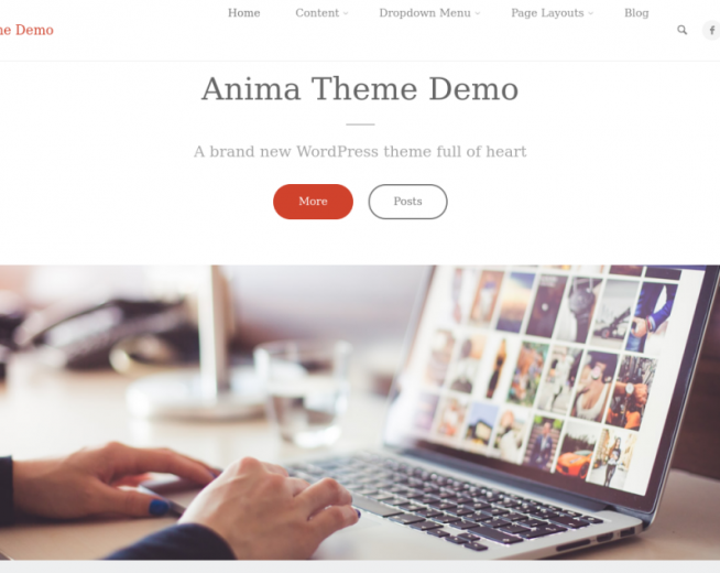 Anima – free and highly customizable business WordPress theme
