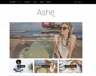 Ashe – Free Multipurpose WordPress theme