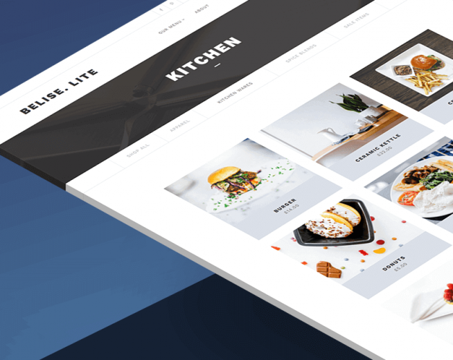 Belise Lite – Free premium Foods, Restaurant WordPress theme