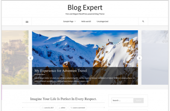 Blog Expert – Free WordPress blogging theme