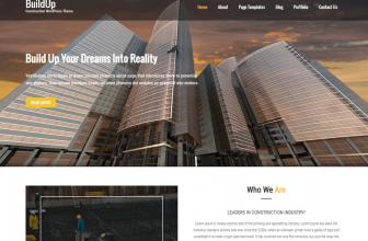 Buildup – free construction and renovation WordPress theme