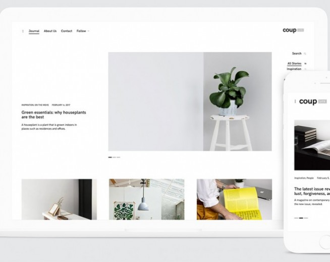 CoupLite – Free minimalist blog, portfolio WordPress theme