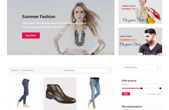Easy Commerce – free simple yet modern e-commerce WordPress theme