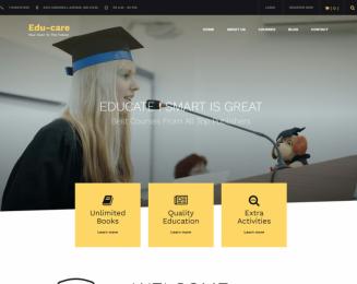 Edu Care – Free educational WordPress theme for schools, Universities