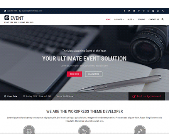 Event -Free Event Conference,Corporate website WordPress Theme