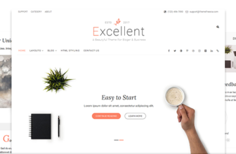 Excellent – Free business blog WordPress theme
