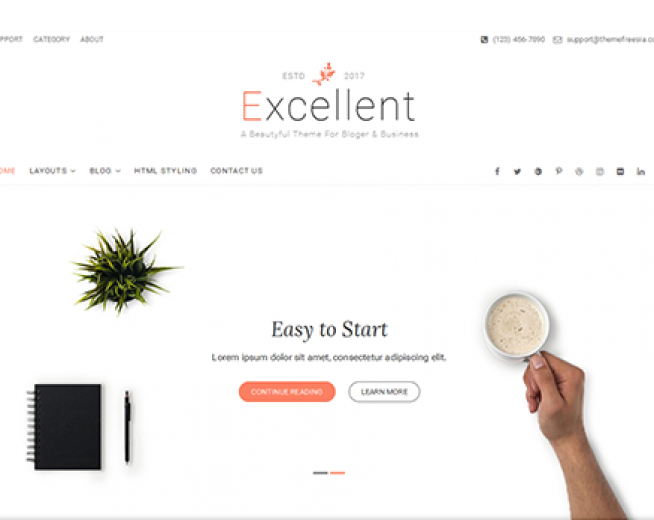 Excellent – Free business blog WordPress theme