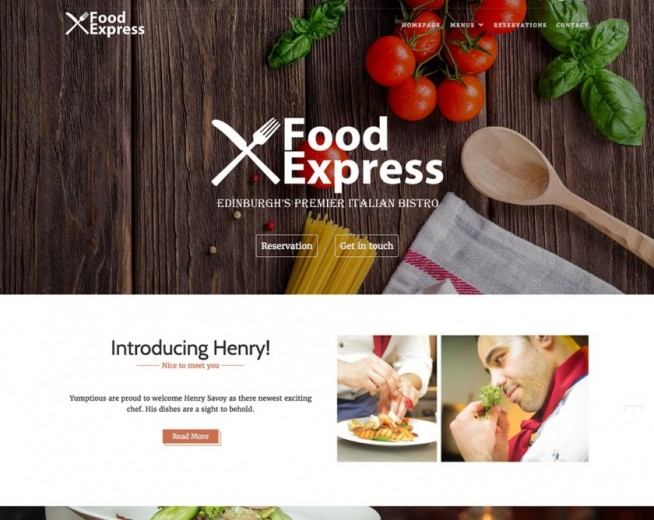 Food Express – Free Stylish and flexible Food WordPress theme