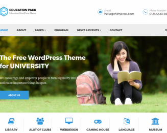 Education Pack – Free premium university WordPress theme