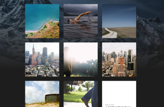 Hitchcock – Free simple, grid portfolio WordPress theme for designers, photographers