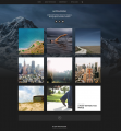 Hitchcock – Free simple, grid portfolio WordPress theme for designers, photographers