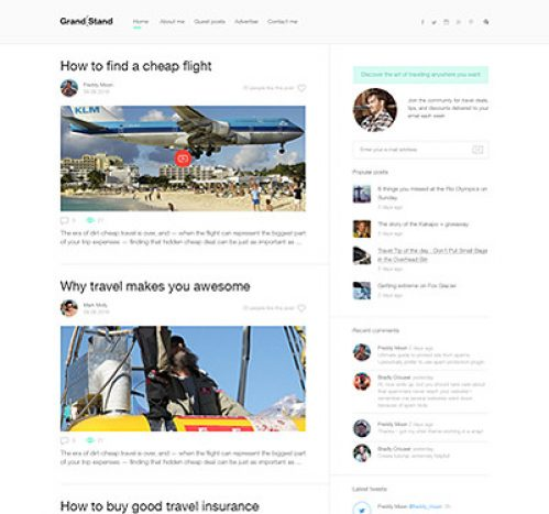 Grandstand - Personal WP blog theme