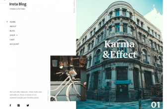 InstaBlog – Free minimalist blogging WordPress theme for Photographers