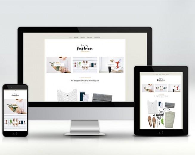 Love Fashion – Free minimalist fashion blog WordPress theme
