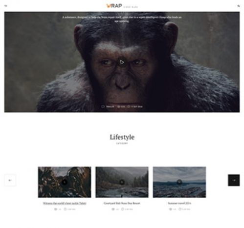 WRAP video blogging theme