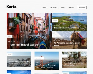 Karta – Free WordPress travel theme