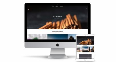 Kindler – Free personal WordPress blogging theme
