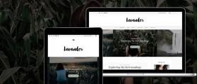 Lavander lite – Free elegant WordPress theme for writers, bloggers Photographers