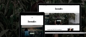 Lavander lite – Free elegant WordPress theme for writers, bloggers Photographers