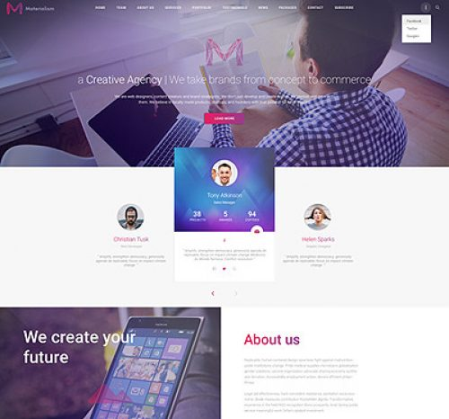 Materialism Business WP theme